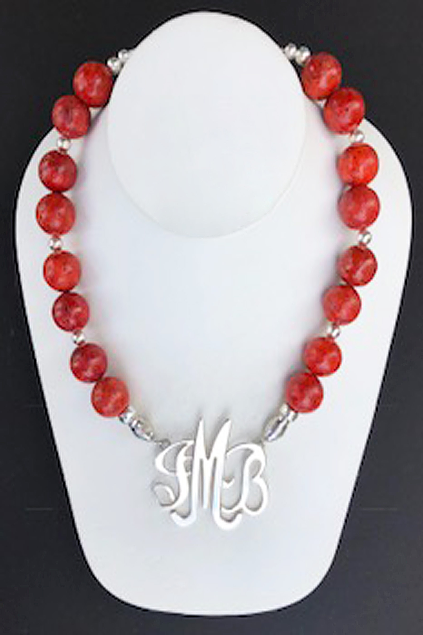 Sponged Red Coral Necklace